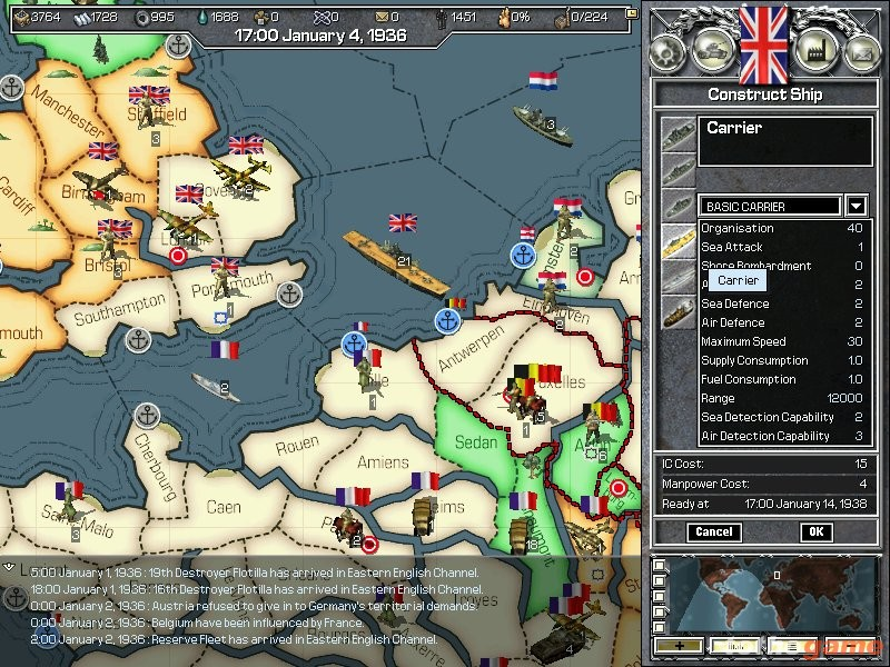 screen3 large Hearts of Iron Platinum Edition [PC Download]