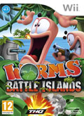 UK Boxshot of Worms Battle Island (NINTENDO Wii)