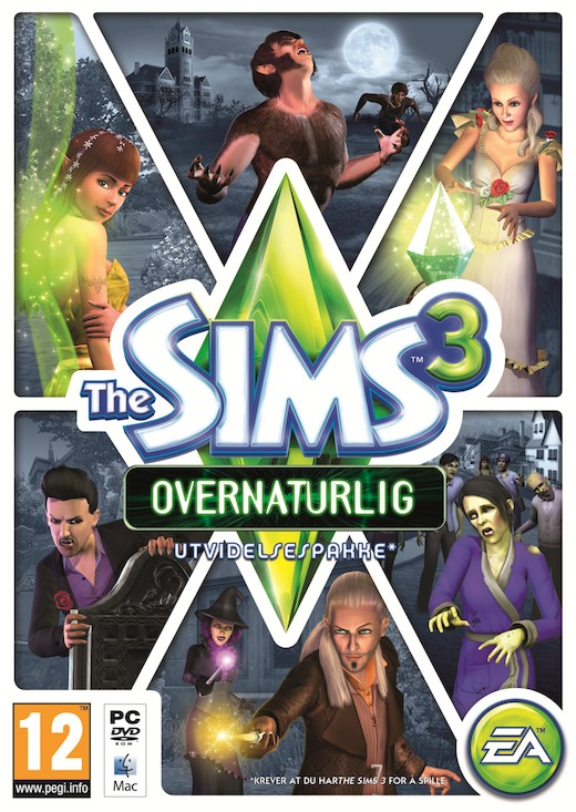 The Sims 3 Supernatural Cover.