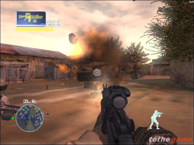 Screenshot of Delta Force: Black Hawk Down (XBOX)