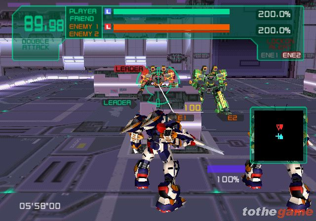 Screenshot of Virtual-On Marz (PS2)