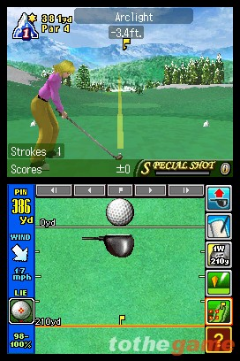 Screenshot of Nintendo Touch Golf Birdie Challenge (DS)