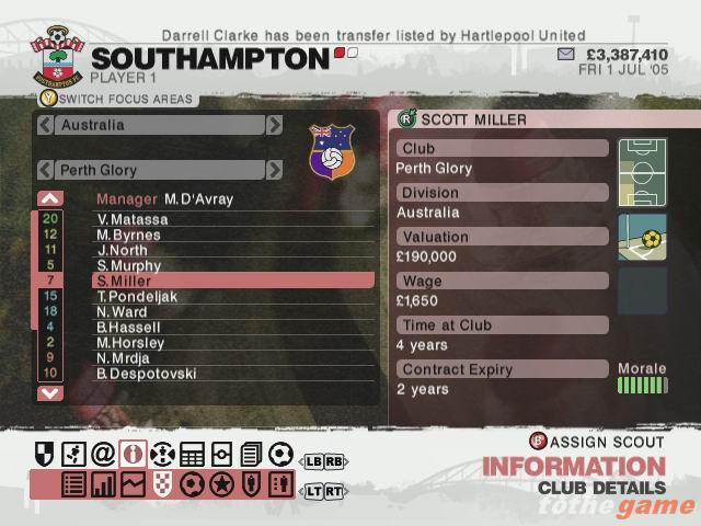 Screenshot of LMA Manager 2007 (XBOX360)