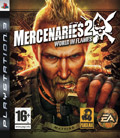 UK Boxshot of Mercenaries 2: World in Flames (PS3)