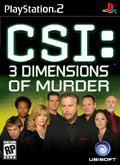US Boxshot of CSI: 3 Dimensions of Murder (PS2)