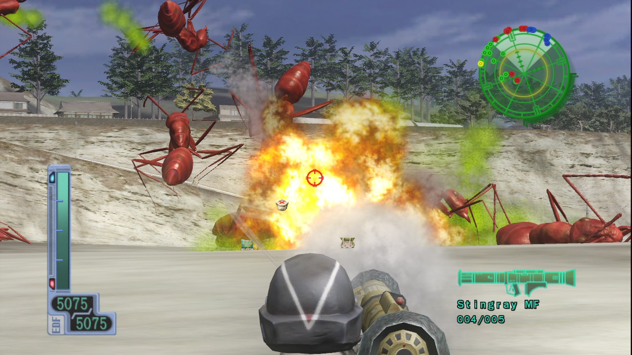 Screenshot of Earth Defence Force 2017 (XBOX360)