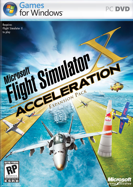 boxshot us large Microsoft Flight Simulator X Accerleration Expansion