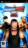 UK Boxshot of WWE SmackDown! vs. RAW 2008 (PSP)