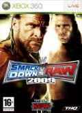 UK Boxshot of WWE SmackDown! vs. RAW 2009 (XBOX360)