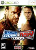 US Boxshot of WWE SmackDown! vs. RAW 2009 (XBOX360)