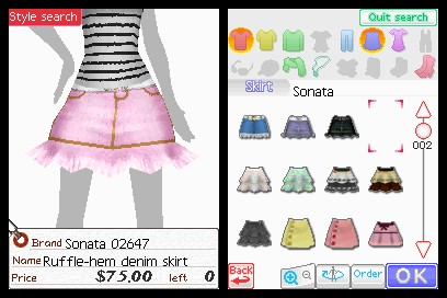 Screenshot of Style Boutique (DS)